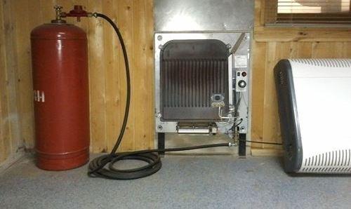 Газова піч для опалення будинку від балона