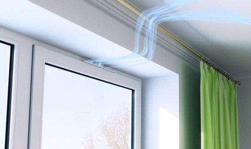 Припливний клапан на пластикові вікна